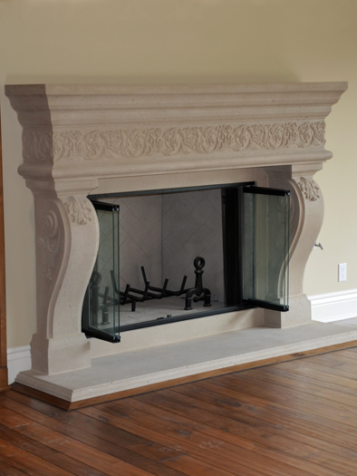 Arabela Fireplace Mantel by Precast Innovations, Inc.