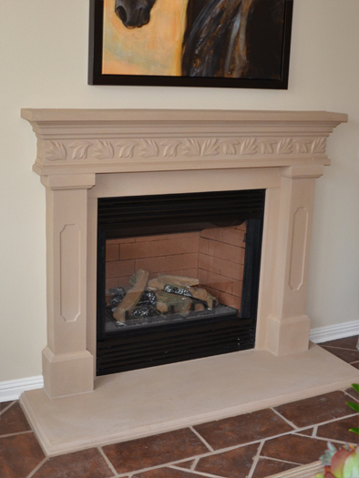 Aspen Fireplace Mantel by Precast Innovations, Inc.