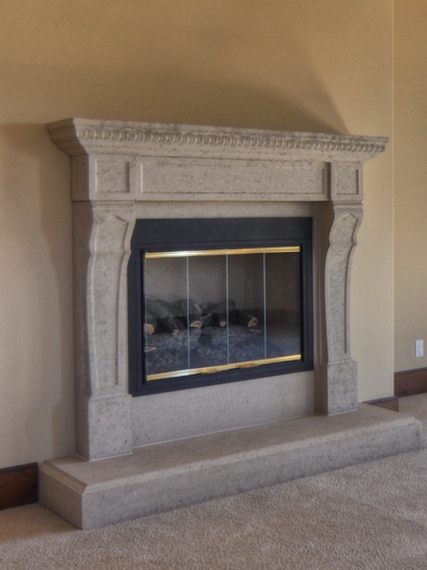 Bonaparte Fireplace Mantel by Precast Innovations, Inc.