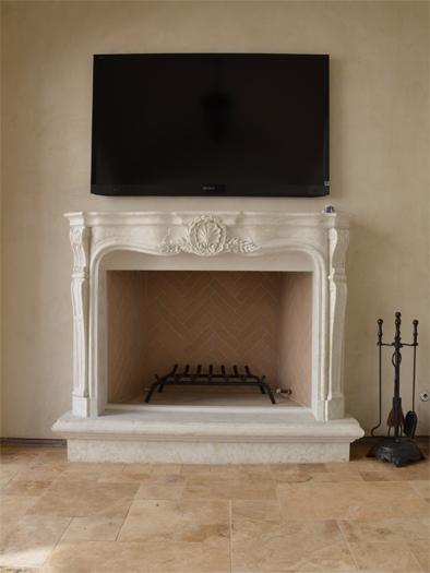 Bordeaux Fireplace Mantel by Precast Innovations, Inc.