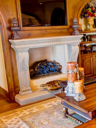 Brighton Fireplace Mantel by Precast Innovations, Inc.