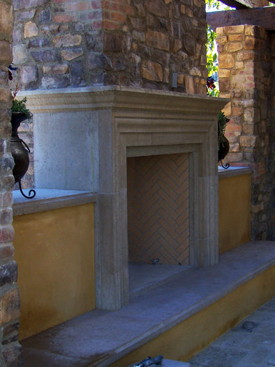 Cassia Fireplace Mantel by Precast Innovations, Inc.