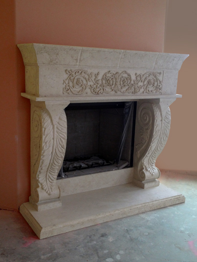 Chateaux Fireplace Mantel by Precast Innovations, Inc.